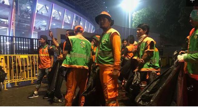 Photo of Usai Closing Ceremony Asian Games, Petugas Sampah Dikerahkan