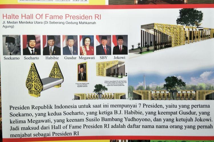 Photo of Bulan Depan, Pemprov DKI Bangun Halte Hall of Fame Presiden untuk Destinasi Wisata
